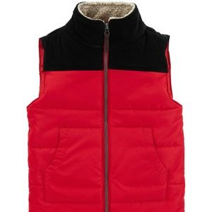 Carter's Boy's Red/Black Puffer Vest - 2T and 4/5